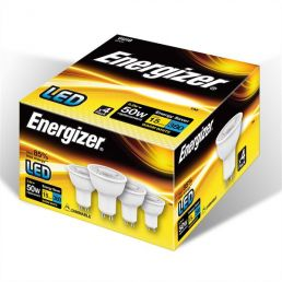 S10327 Energizer Led Gu10 380lm 5.2w Warm White Dimmable, Pack Of 4