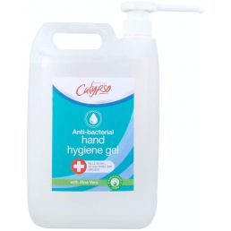 Calypso Anti-Bacterial Hand Hygiene Sanitiser Gel with Aloe Vera, 70% alcohol, 5L (£1.70 per 100ml)