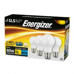 S14056 Energizer Led GLS 806lm 9W Opal B22 (BC) Warm White, Pack Of 4