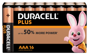 S8166 Duracell AAA Plus Power , Pack Of 16