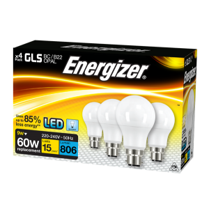 S14062 Energizer Led GLS 806LM 9.2W Opal B22 (BC) Daylight, Pack Of 4