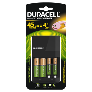 S514 Duracell CEF14 4 Hour Charger With  2 x AA Batteries