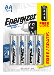 S5715 Energizer AA Ultimate Lithium, Pack Of 3+1