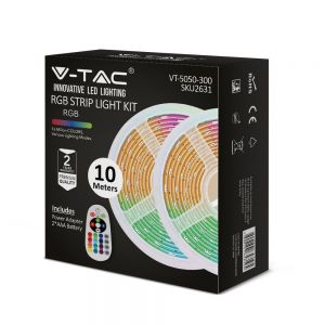 VT-5050 300 Led Strip Light Set(Bs Plug) Ip20 (2x5m Roll) Rgb