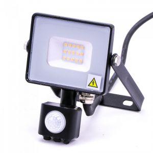 V-TAC -30-S 30W SMD Pir Sensor Floodlight With Samsung Chip Colorcode:4000K BLACK BODY GREY GLASS