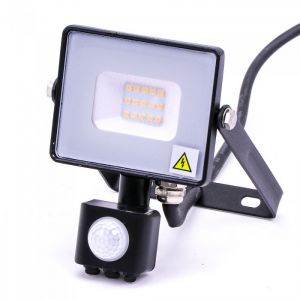 V-TAC -30-S 30W SMD Pir Sensor Floodlight With Samsung Chip Colorcode:6400K BLACK BODY GREY GLASS