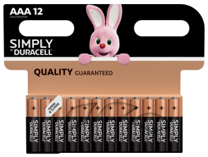 S5939 Duracell AAA Simply, Pack Of 12