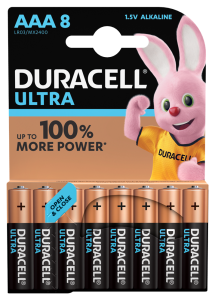 S5727 Duracell AAA Ultra Power, Pack Of 8