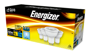 S14426 Energizer Led GU10 375LM 5W 50° Warm White, Pack Of 4