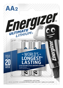 S3128 Energizer AA / L91 Ultimate Lithium, Pack Of 2