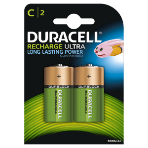 S3091 Duracell C Size 2200mah Recharge Ultra, Pack Of 2
