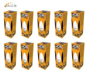 Jcb Led 6W Candle B22 470lm OPAL B22 6500k Cool White (10 PACK)