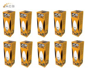 Jcb Led 6W Candle 520lm Opal B22 4000k (10 Pack)