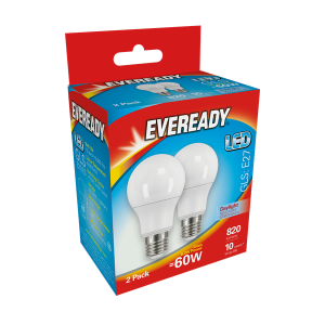 S15304Eveready Led Gls 820LM E27 (ES) Daylight, Pack Of 2