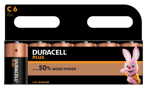S3519 Duracell C Size Plus Power, Pack Of 6
