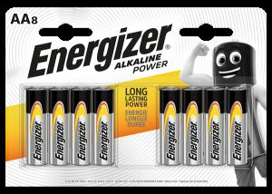 S9337 Energizer AA Alkaline Power, Pack Of  8
