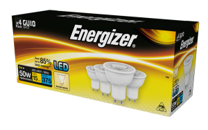 S14425 Energizer Led GU10 375LM 5W 50° Warm White, Pack Of 4