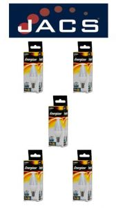 Energizer Led Candle 470LM 5.9W Opal E14 (SES) Warm White, Pack Of 5