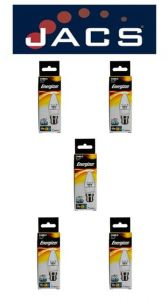 Energizer Led Candle 470LM 6.2W CLEAR B22 (BC) Warm White Dimmable, Pack Of 5