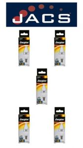 Energizer Led Candle 470lm 6.2W Clear E14 (SES) Warm White Dimmable, Pack Of 5