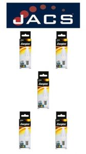 Energizer Led Candle 470LM 5.9W OPAL B15 (SBC) Warm White, Pack Of 5