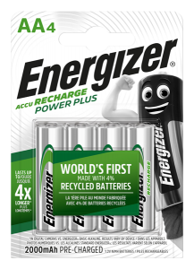 S10260 Energizer AA 2000mah Recharge Power Plus, Pack Of 4