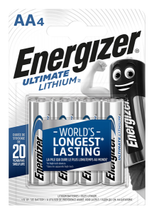 S3127 Energizer AA / L91 Ultimate Lithium, Pack Of 4