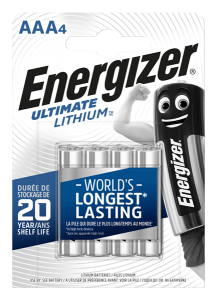 S3131 Energizer AAA / L92 Ultimate Lithium, Pack Of 4