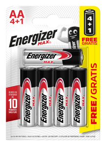 S15266 Energizer AA Max, Pack Of 4+1