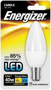 Energizer Led Candle 520lm 5.9w Opal B15 (SBC) Daylight