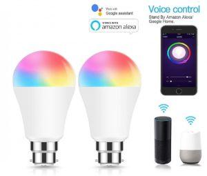 Smart B22 7W RGBW Light Bulbs (2 Pack)