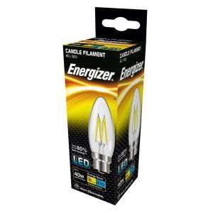 Energizer Filament Led Candle 470LM 4W B22 (BC ) Warm White