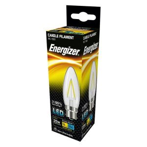 Energizer Filament Led Candle 250lM 2.4W B22 (BC) Warm White