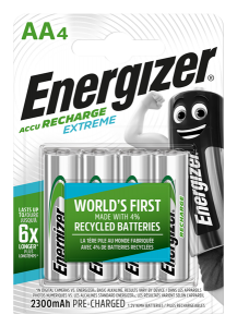 S10262 Energizer AA 2300MAH Recharge Extreme, Pack Of 4