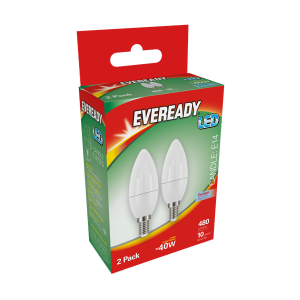S15300 Eveready Led  Candle 470LM Opal E14 (SES) Daylght, Pack Of 2