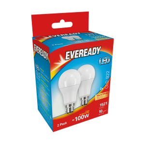 S15305 Eveready Led Gls 1521LM B22 (BC) Warm White, Pack Of 2