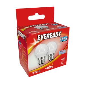 S15333 Eveready Led Golf 470LM OpalL E27 (ES) Warm White, Pack Of 2