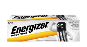 S661 Energizer D Size Industrial, Pack Of 12