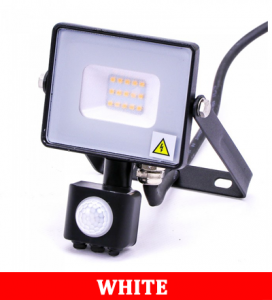 V-TAC -30-S 30W SMD Pir Sensor Floodlight With Samsung Chip Colorcode:6400K BLACK BODY GREY GLASS