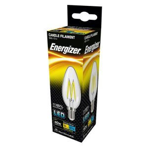 Energizer Filament Led Candle 470lM 4W E14 (SES) Warm White