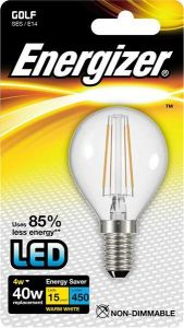 Energizer Filament Led Golf 470LM 4W E14 (SES)  Warm White