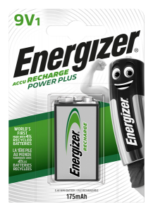 S624 Energizer 9V 175MAH Recharge Power Plus, Pack Of 1