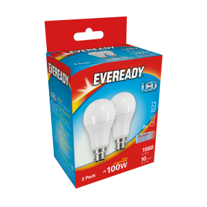S15306 Eveready Led Gls 1560LM B22 (BC) Day light, Pack Of 2