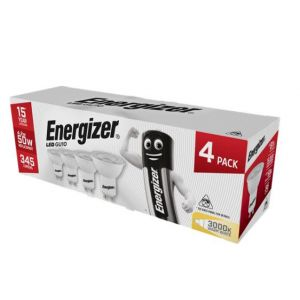 S14425 Energizer Led GU10 345LM 5W 50° Warm White, Pack Of 4