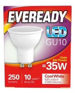 Eveready Led GU10 235LM CoolWhite