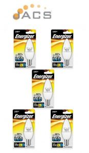 Energizer Led Candle 470LM 5.9W CLEAR B15 (SBC) Warm White, Pack Of 5