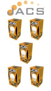 Jcb Led A60 820lm OPAL E22 (BC) 4000K, Pack Of 5
