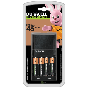 S6374 Duracell 45 Minute Charger With 2 x AA, 2 x AAA Batteries
