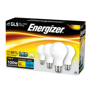 S14423 Energizer Led GLS 1521LM 14W OPAL B22 (BC) Warm White, Pack Of 4