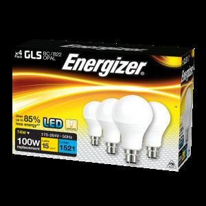 Energizer Led GLS 1521LM 14W OPAL B22 (BC) Warm White, Pack Of 4